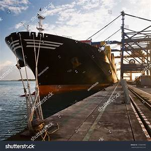 Front Cargo Ship Loading Containers Stock Photo 153960980 ...