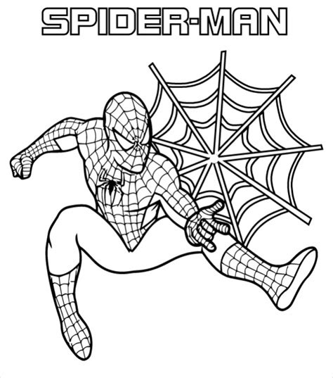colouring in templates spiderman spiderman cartoon coloring pages