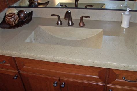 integrated bathroom sink and countertop concrete bath sinks modern vanity tops and side