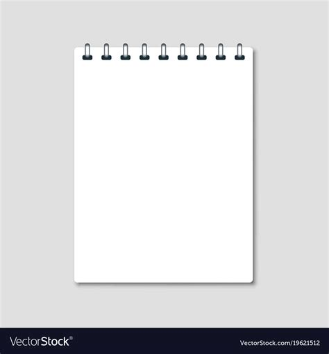 vertical white notepad royalty  vector image