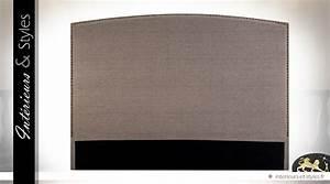 Tete De Lit Lin : t te de lit en 160 habillage tissu coloris lin cru int rieurs styles ~ Melissatoandfro.com Idées de Décoration