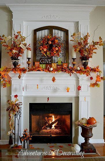 adventures in decorating fall mantel picmia