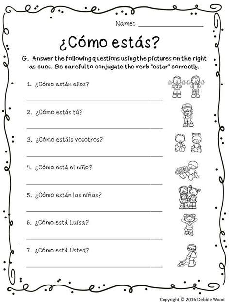 worksheet 48 fresh ser estar worksheet answers sets