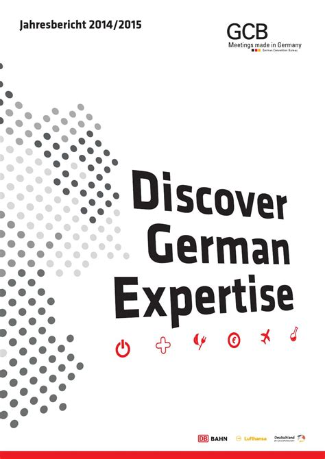 bureau lufthansa gcb jahresbericht 2014 15 by gcb german convention bureau