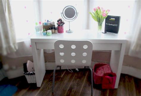 Makeup Desk Ikea Uk by My Dressing Table Make Up Storage Burningblonde