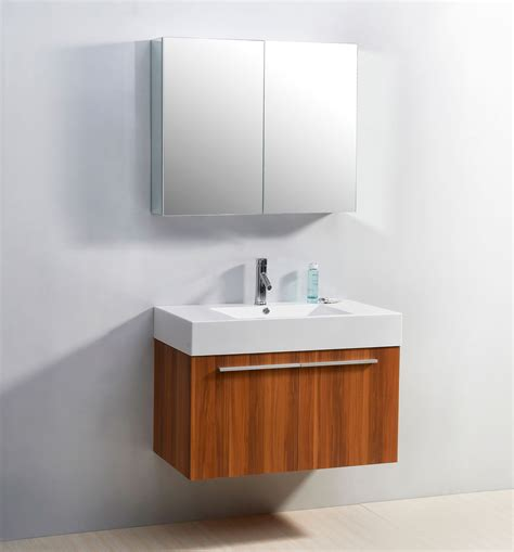 Abodo 36 Inch Wall Mounted Plum Bathroom Vanity