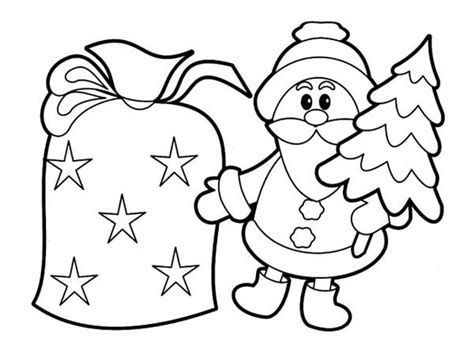 Tiny Santa Claus Ornament On Christmas Coloring Page