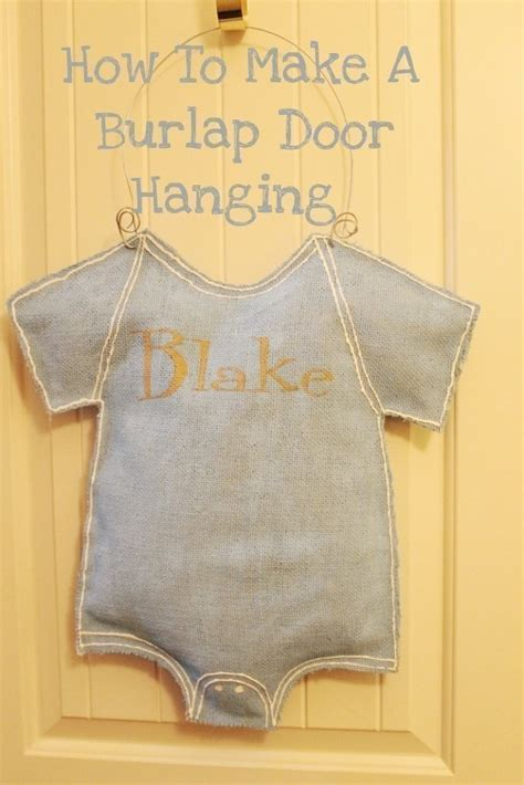 how to make a hanging l how to make a burlap door hanging how to make a door