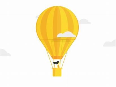 Balloon Air Floating Dribbble Skies Sky Dancing