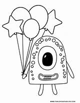 Monster Coloring Monsters Pages Cute Printables Silly Little Fun Scary Cutest Aren These sketch template