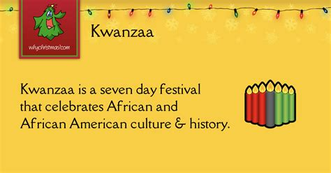 Kwanzaa -- Christmas Customs And Traditions