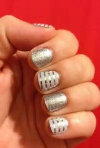 White and Silver Wedding Nail Designs