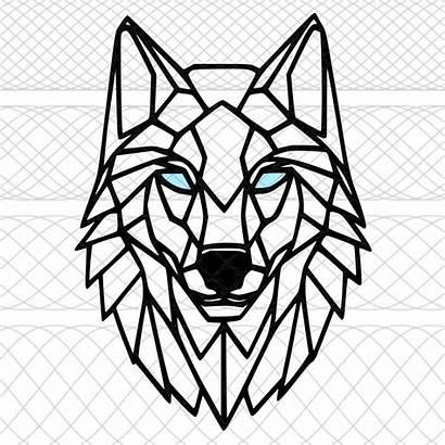 Wolf Geometric Drawing Silhouette Cut Cameo Craft