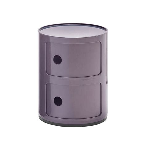 Kartell Comodino by Kartell Comodino Componibili A Due Elementi Viola Abs