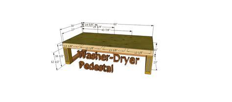 ana white washerdryer pedestal custom diy projects