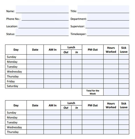 time tracking template 8 time tracking sles sle templates