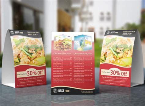 restaurant tent card designs templates psd ai