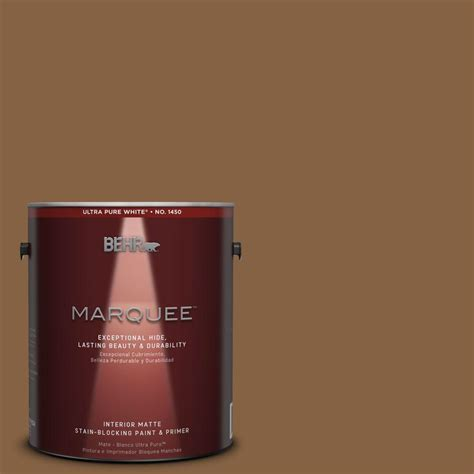 behr marquee 1 gal mq2 10 burnt caramel one coat hide