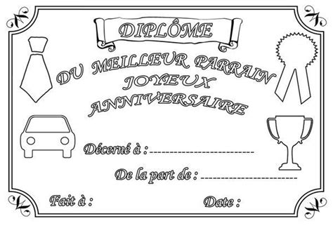 Coloriage Diplome Anniversaire