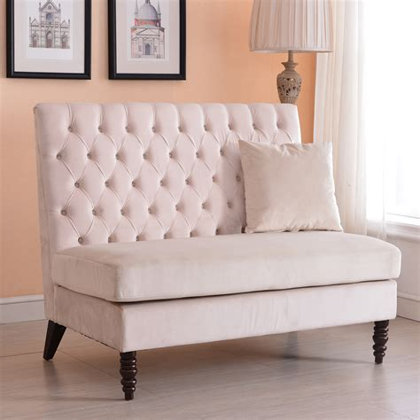 sofa bench seat cushion new modern tufted settee bedroom bench sofa high back