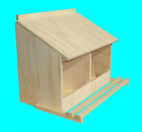 chicken nest box for bantams 2 hole wall mount