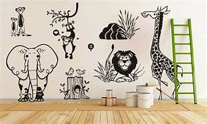Compare prices on jungle animal zoo living wall stickers