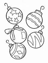 Balls Coloring Solitaire Christmas Printable Pages Decoration Template sketch template