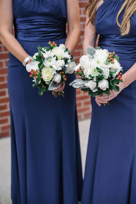best flower bouquets navy blue and coral nautical wedding by shannon moffit
