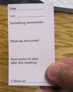 eric mack on line heres an analog productivity tip With business card backside ideas