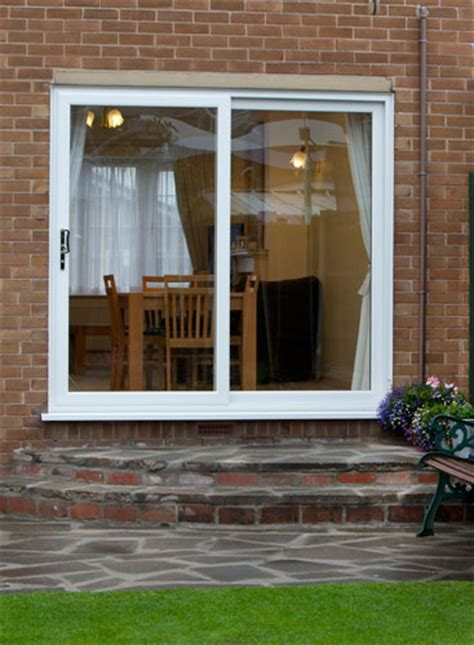 white patio doors  pane upvc sliding