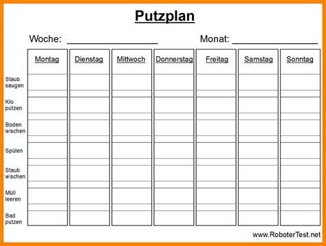 Putzen Plan by 10 Putzplan Familie Vorlage 2 Menin A Boat