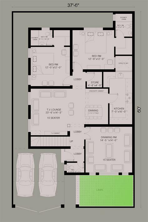 house floor plan house map  marla house plan house