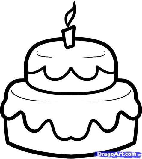 How To Draw A Cake For Kids, Step By Step, Food, Pop