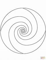 Spiral Coloring Mandala Getcolorings Printable Popular sketch template