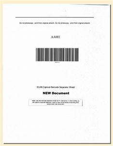 what are barcode separator sheets elan gmk With document barcode scanner