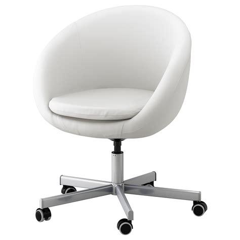 white desk chair skruvsta swivel chair idhult white ikea