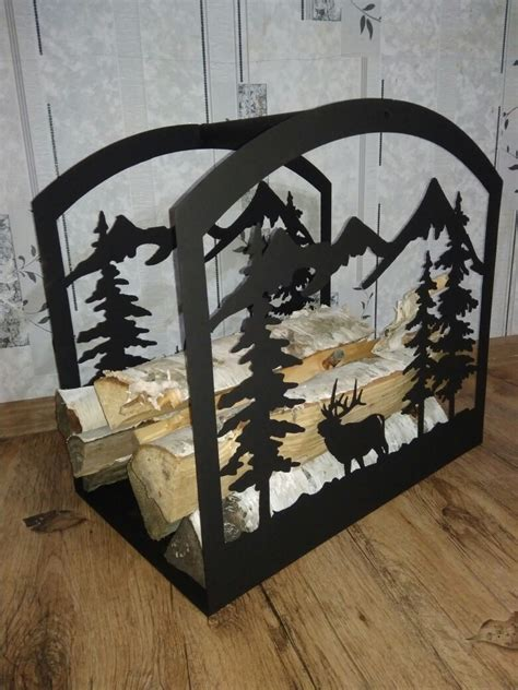 firewood storage rack log holder firewood stand laser