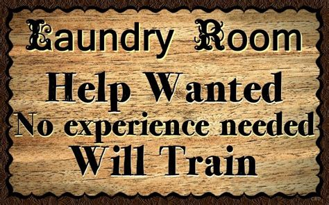 Laundry Room Help Wall Decor Rustic Primitive Hard