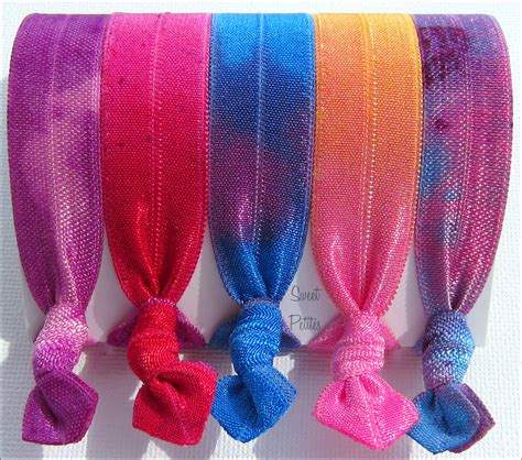 Hair Tie Tie Dyed The Tropical Collection Set Of 5