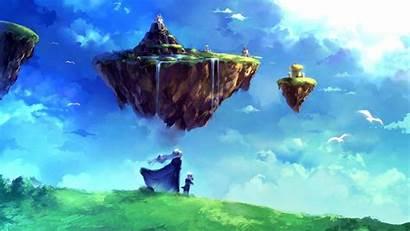 Floating Island Fantasy Chrono Trigger Anime Zeal