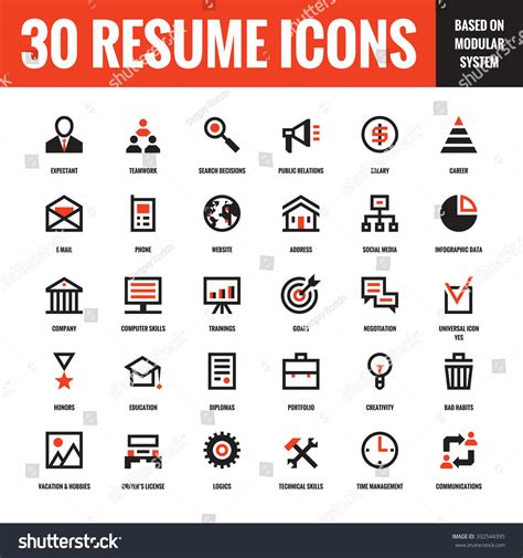 resume icons free vector 30 resume creative vector icons based on modular system set of 30 business concept vector icons