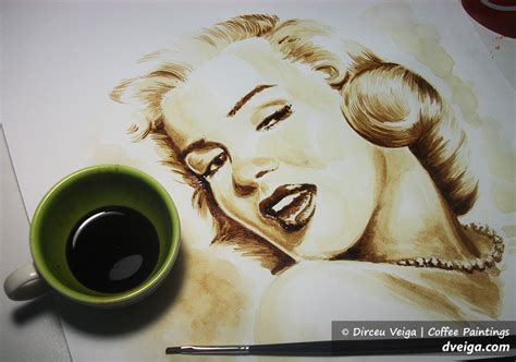 Awesome Coffee Paintings By Dirceu Veiga