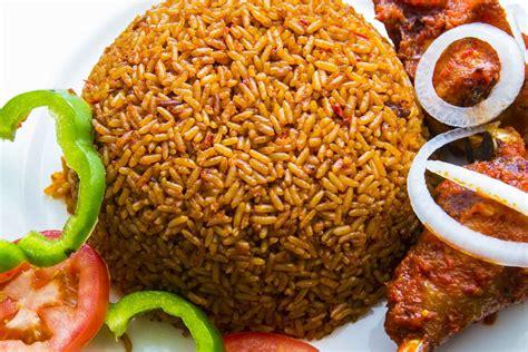 jollof rice   piece  fried grilled chicken