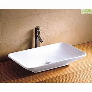 Vasque À Poser Rectangulaire : vasque rectangulaire poser sur un meuble de bain 68 5 ~ Melissatoandfro.com Idées de Décoration