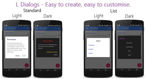 The Android Arsenal - Dialogs - L-Dialogs