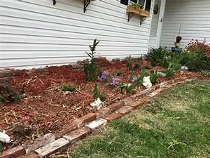 Reclaimed, Brick, Flower, Bed, Edging