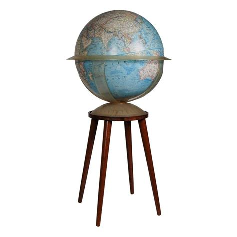 floor l globes national geographic floor globe with walnut stand for sale at 1stdibs