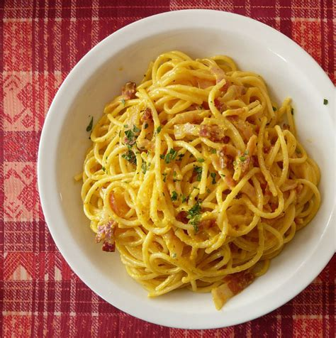 la cuisine italienne recettes la recette originale des spaghetti à la carbonara les