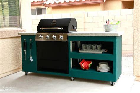 diy rolling kitchen island diy outdoor kitchen 6887