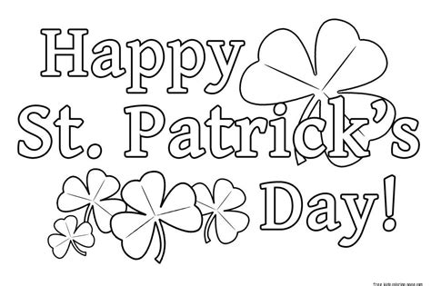 Printable Happy St Practice Day Coloring Pages For